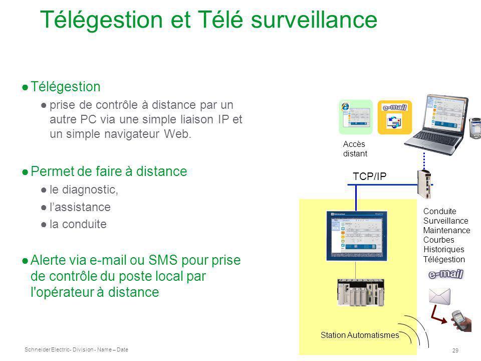 Télégestion et Télé surveillance