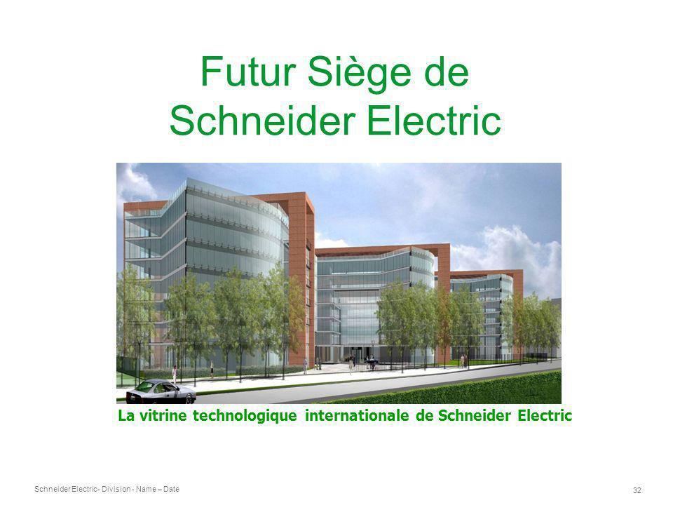 La vitrine technologique internationale de Schneider Electric