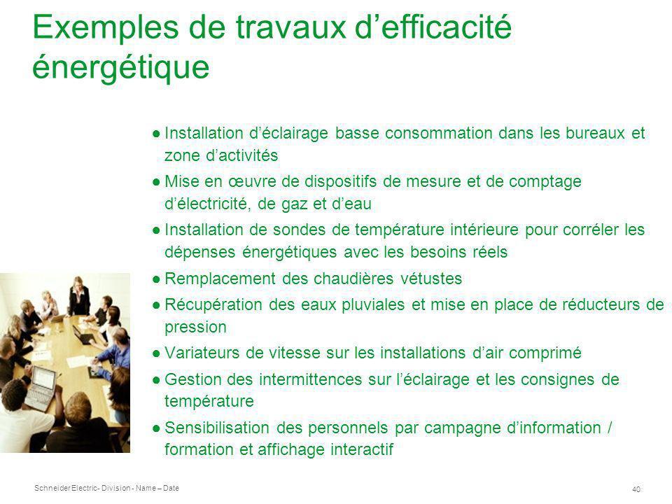 Exemples de travaux d'efficacité énergétique