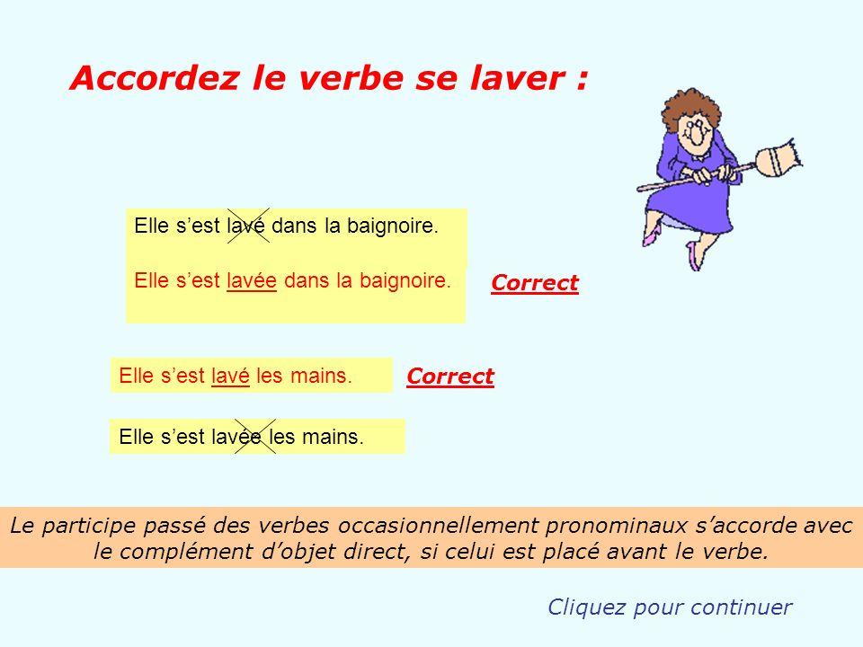 Accordez le verbe se laver :
