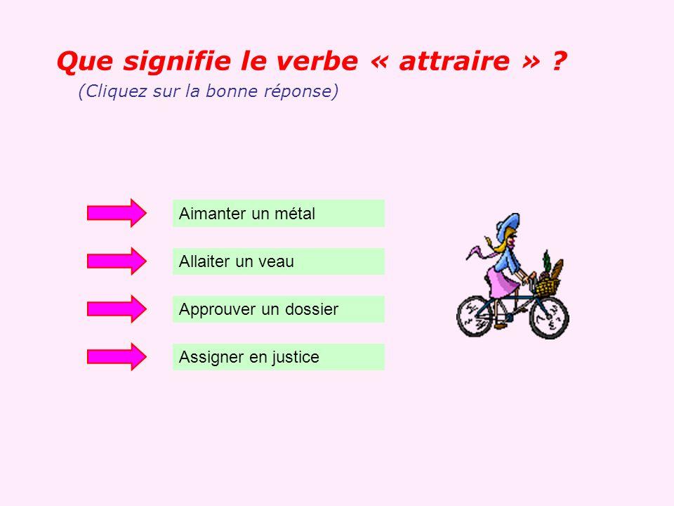 Que signifie le verbe « attraire »