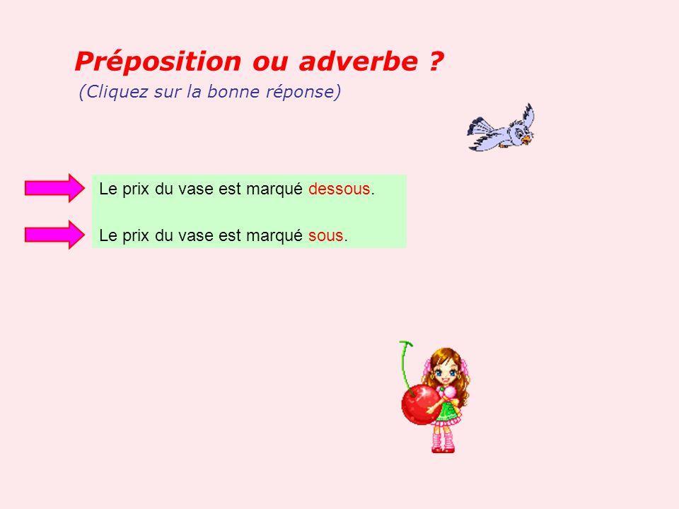 Préposition ou adverbe