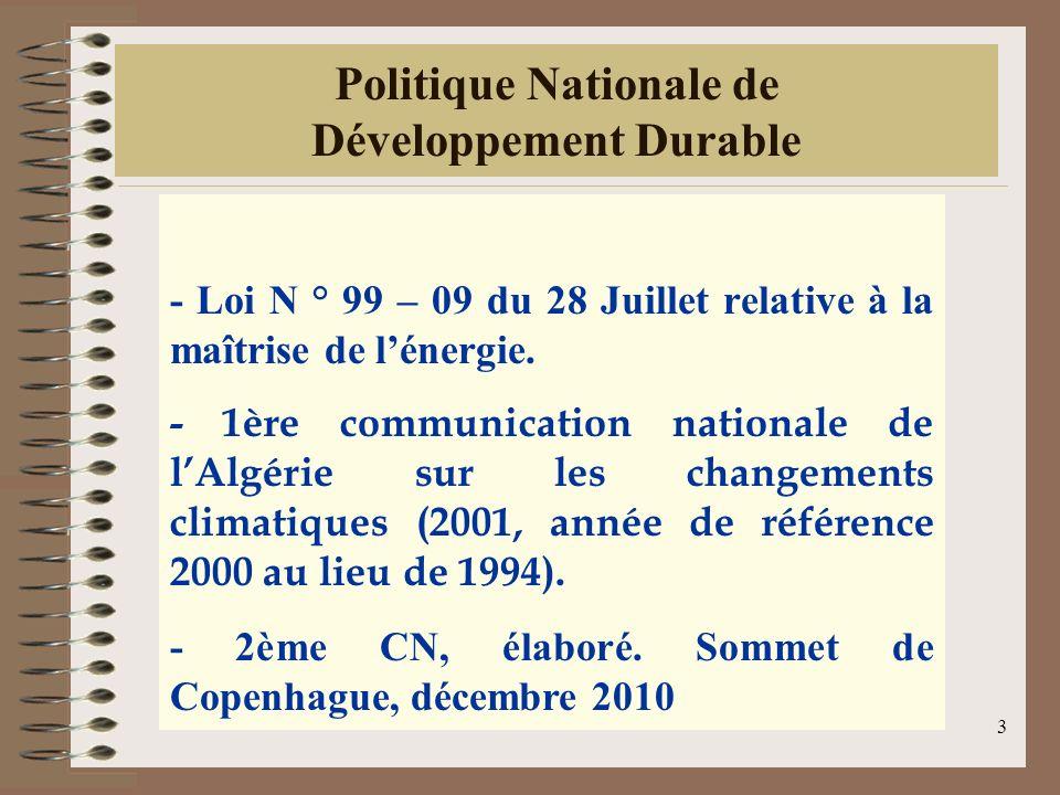 Politique Nationale de Développement Durable