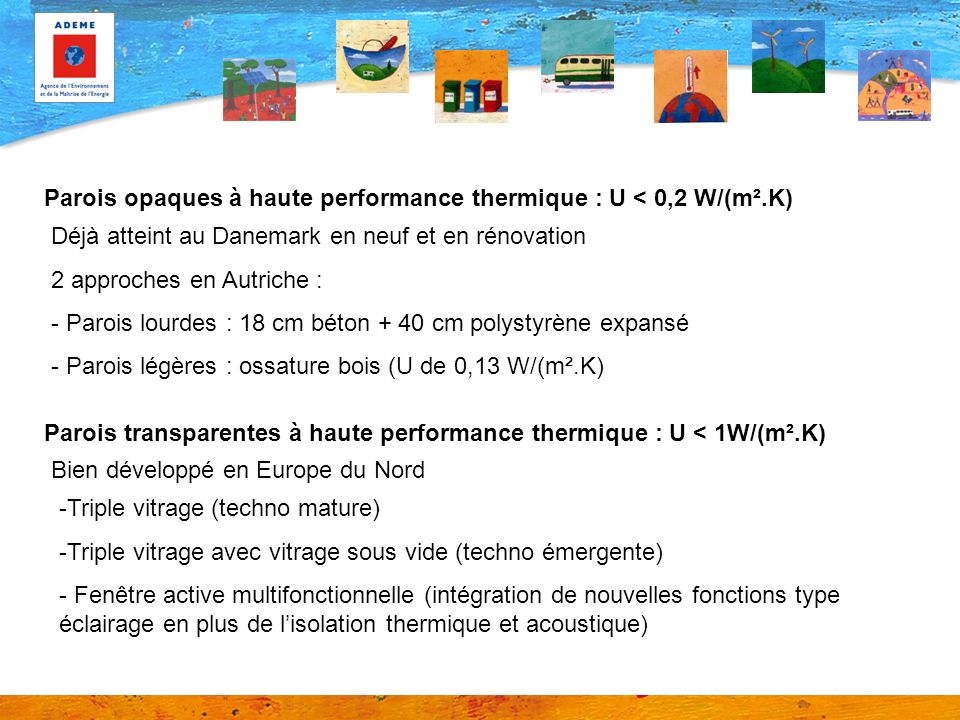 Parois opaques à haute performance thermique : U < 0,2 W/(m².K)
