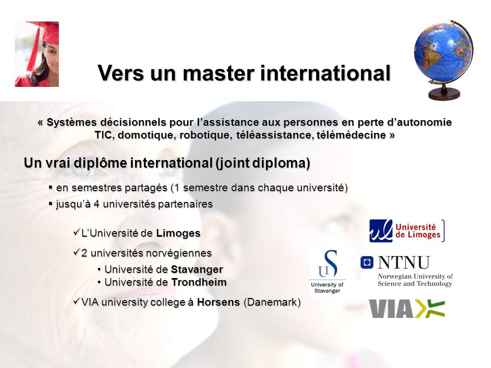 Vers un master international