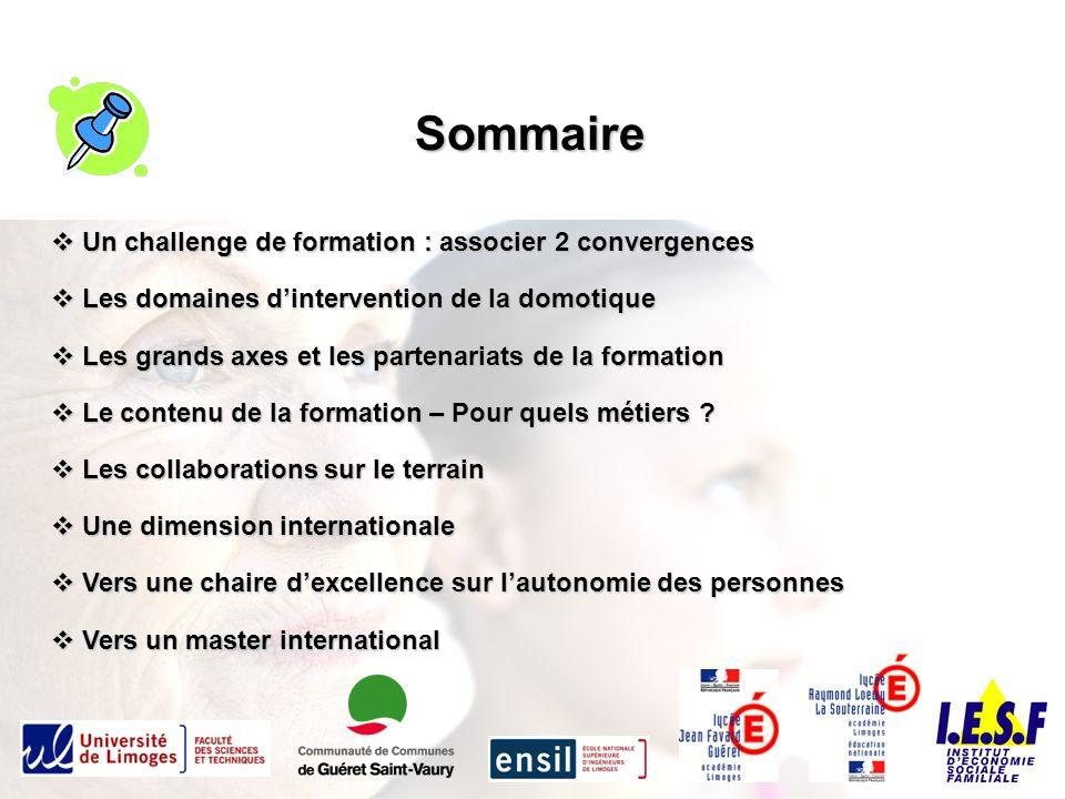 Sommaire Un challenge de formation : associer 2 convergences
