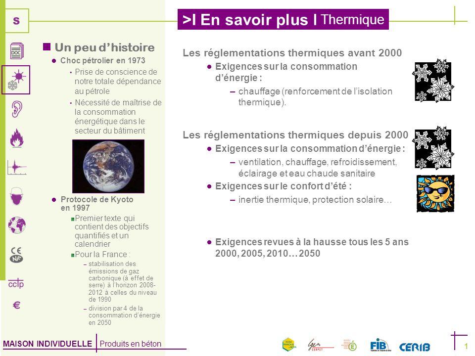 Un peu d'histoire Les réglementations thermiques avant 2000