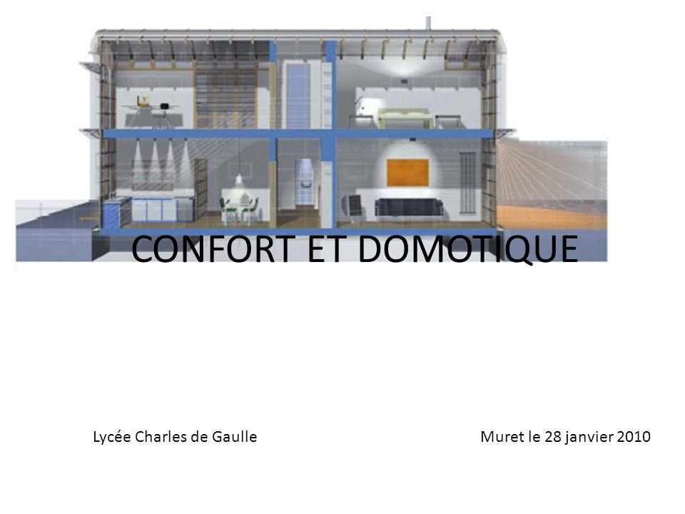 CONFORT ET DOMOTIQUE Lycée Charles de Gaulle Muret le 28 janvier 2010.
