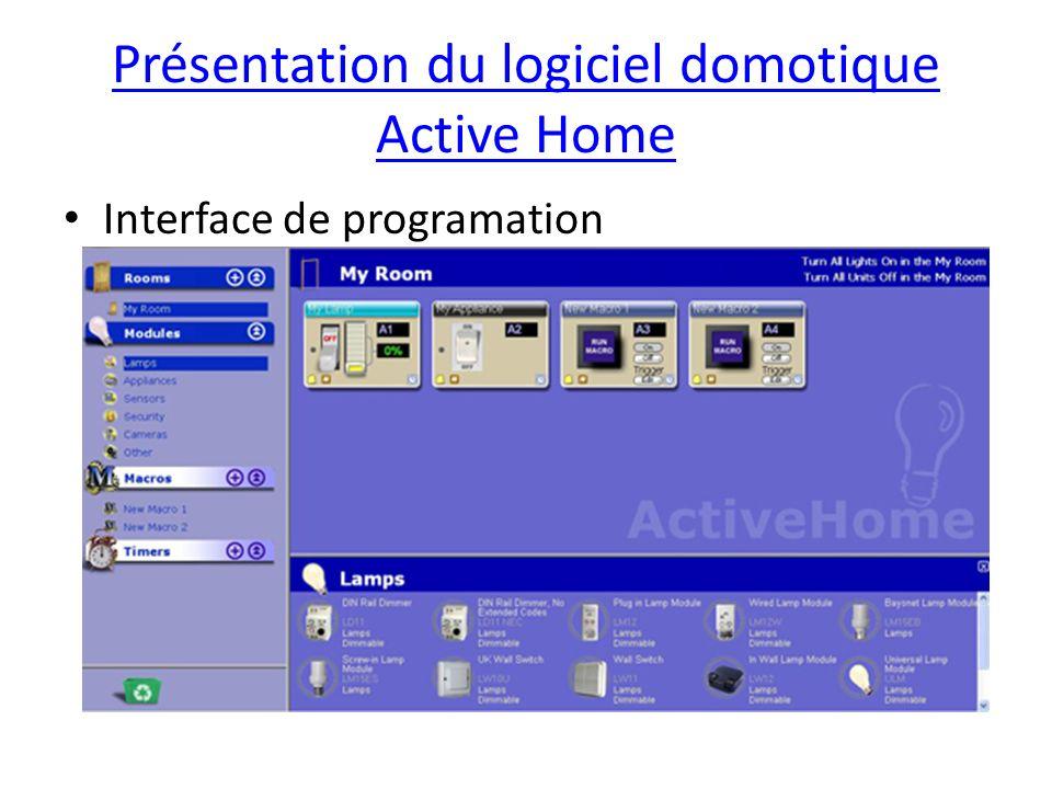 Présentation du logiciel domotique Active Home