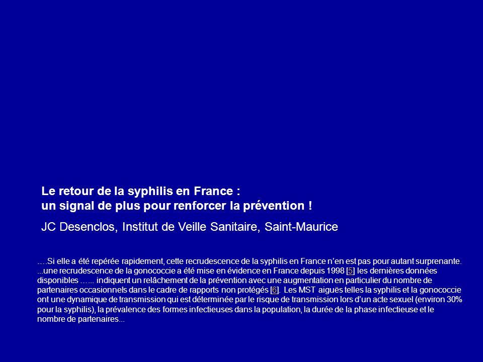 JC Desenclos, Institut de Veille Sanitaire, Saint-Maurice