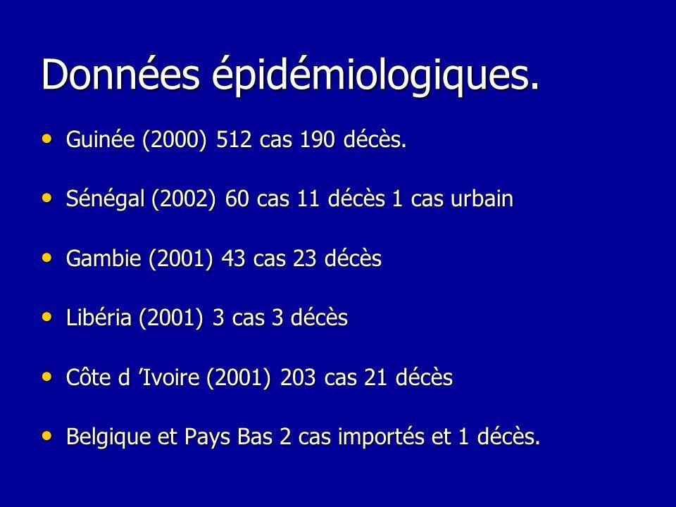 Données épidémiologiques.