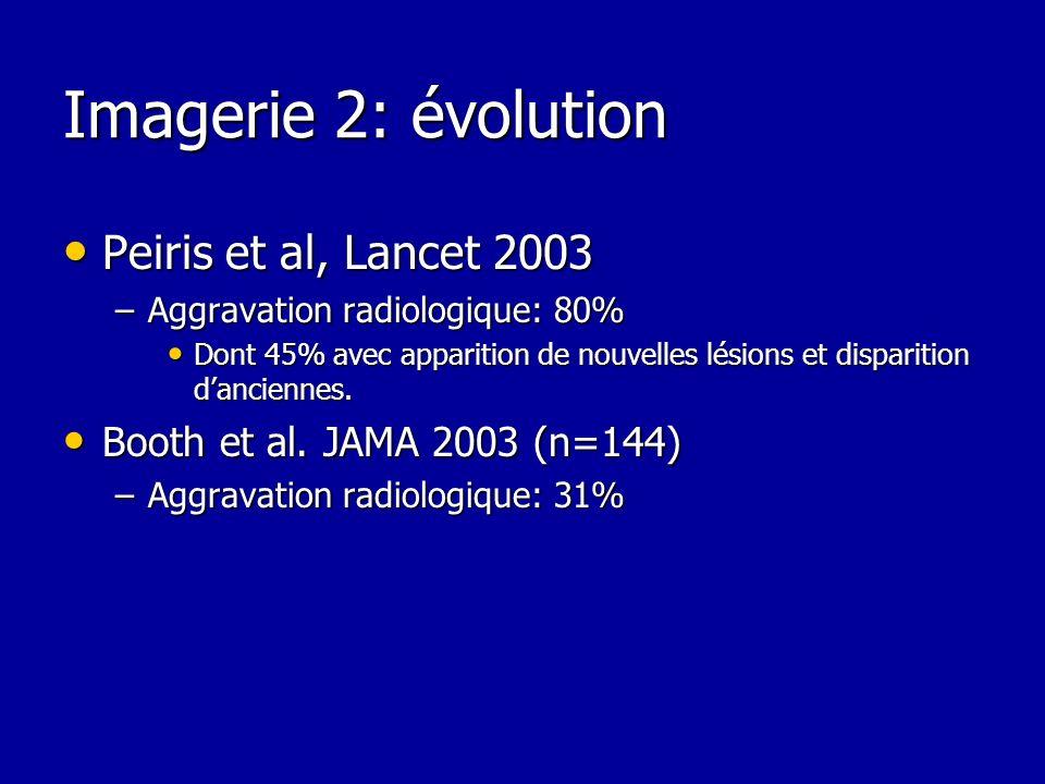Imagerie 2: évolution Peiris et al, Lancet 2003