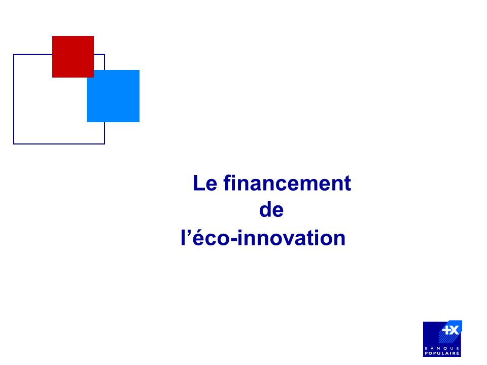 Le financement de l'éco-innovation