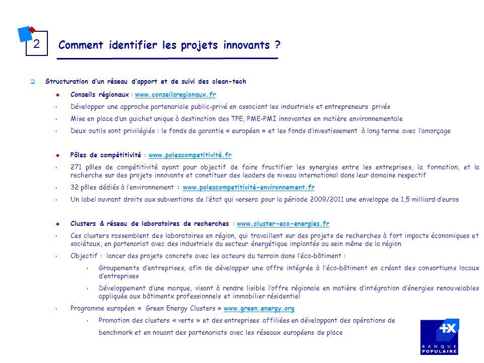 Comment identifier les projets innovants