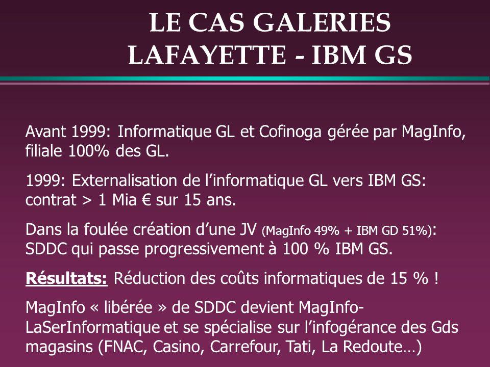LE CAS GALERIES LAFAYETTE - IBM GS