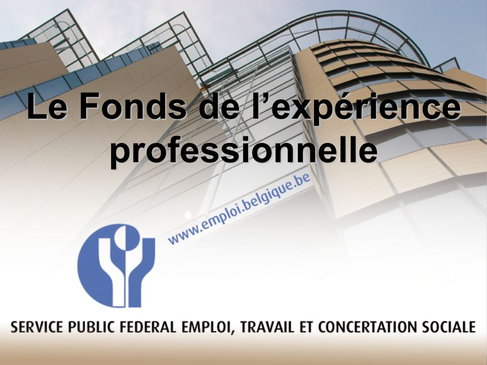 Le Fonds de l'expérience professionnelle