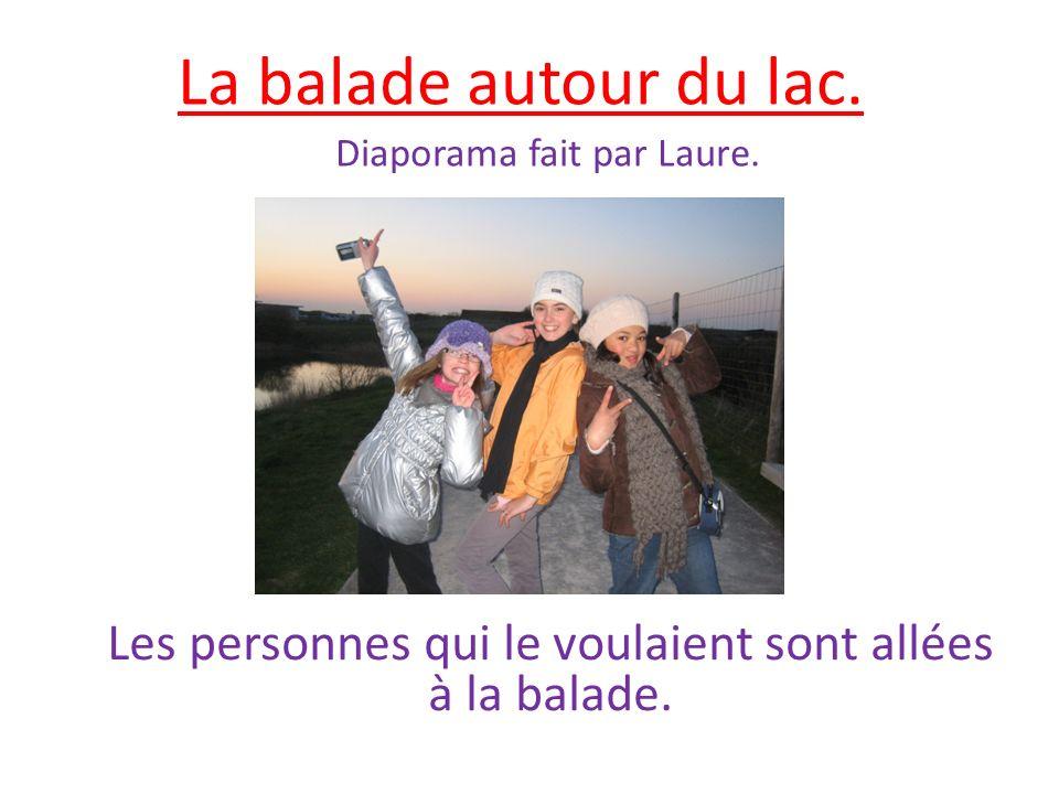 La balade autour du lac. Diaporama fait par Laure. Les personnes qui le voulaient sont allées à la balade.
