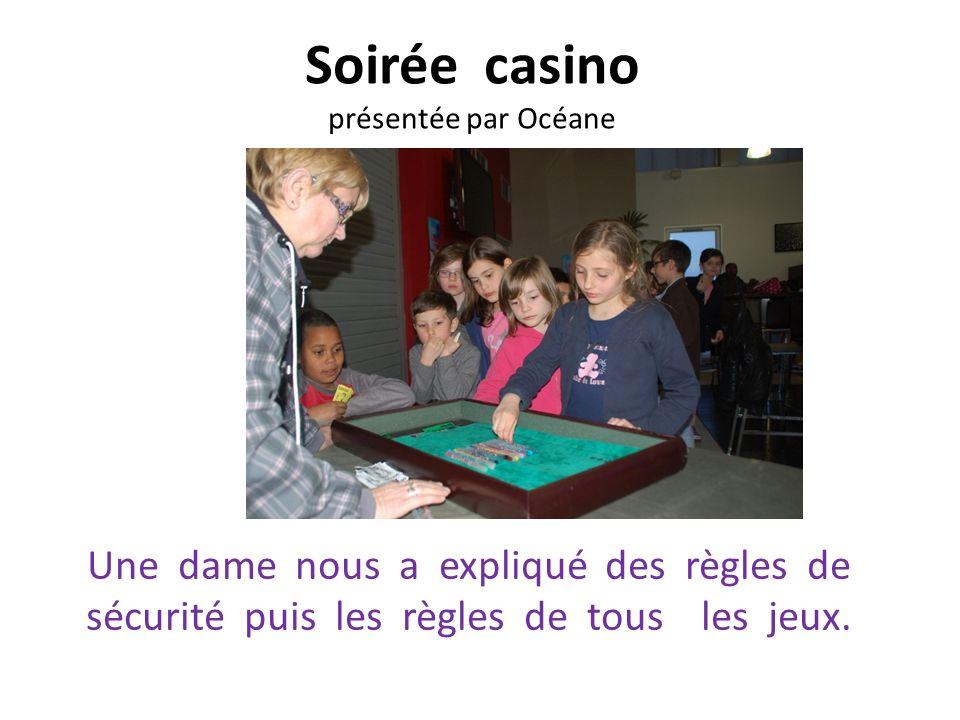 Soirée casino présentée par Océane