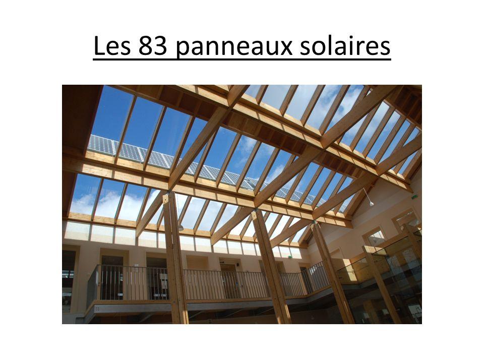 Les 83 panneaux solaires