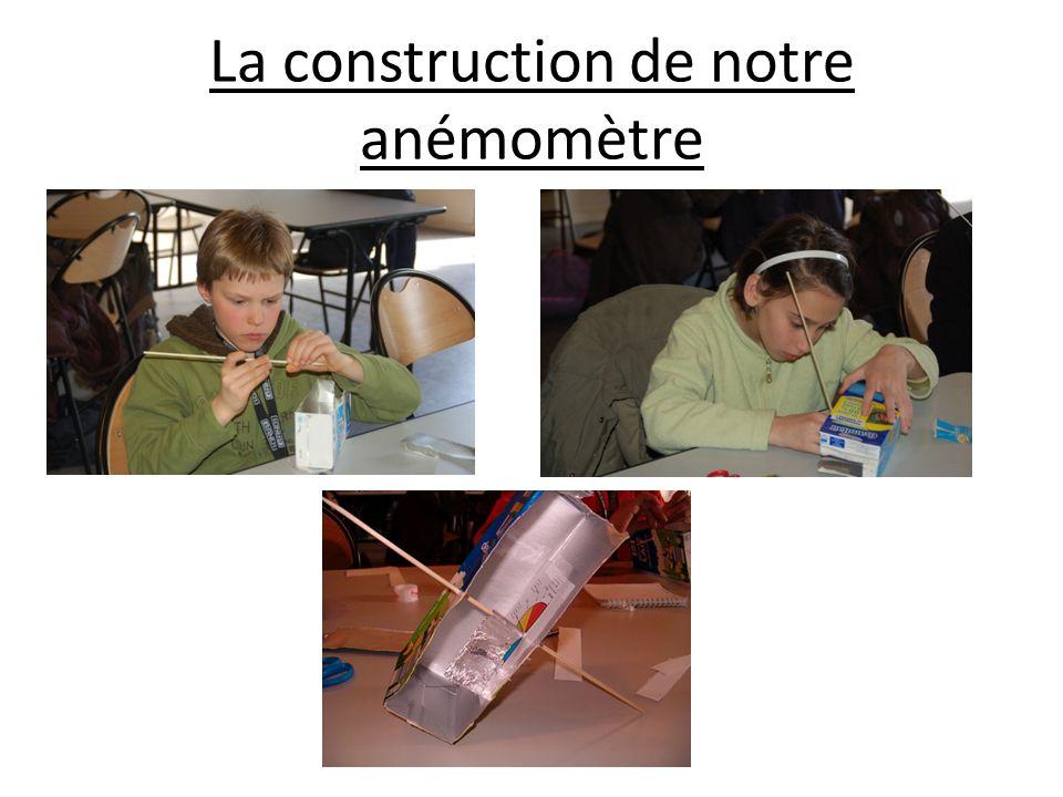 La construction de notre anémomètre