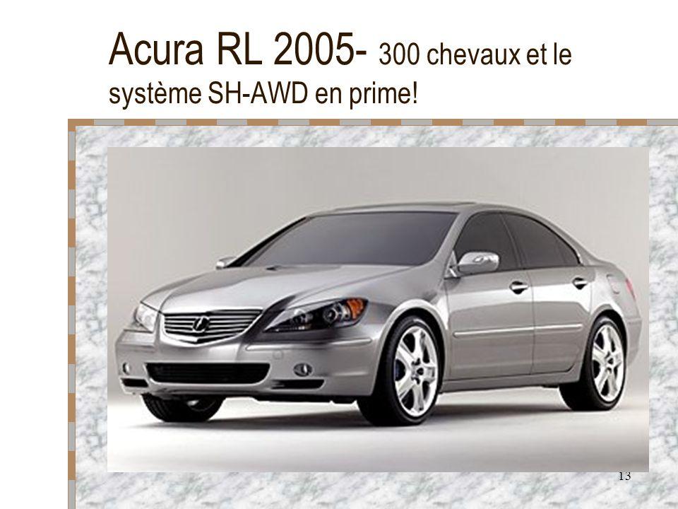 Acura RL 2005- 300 chevaux et le système SH-AWD en prime!