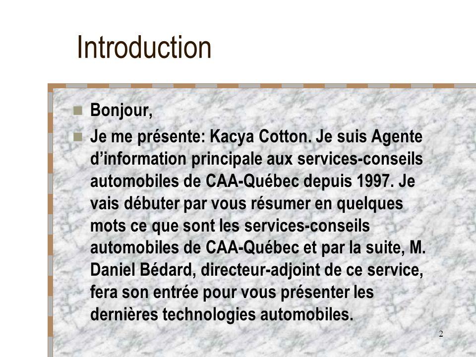Introduction Bonjour,
