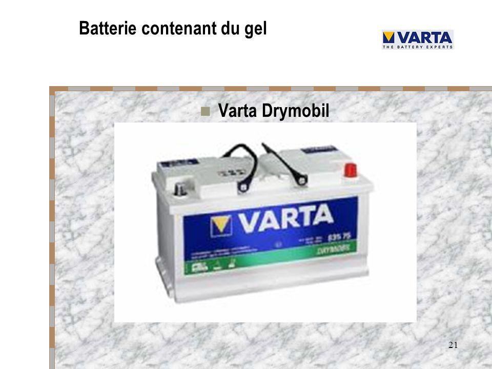 Batterie contenant du gel