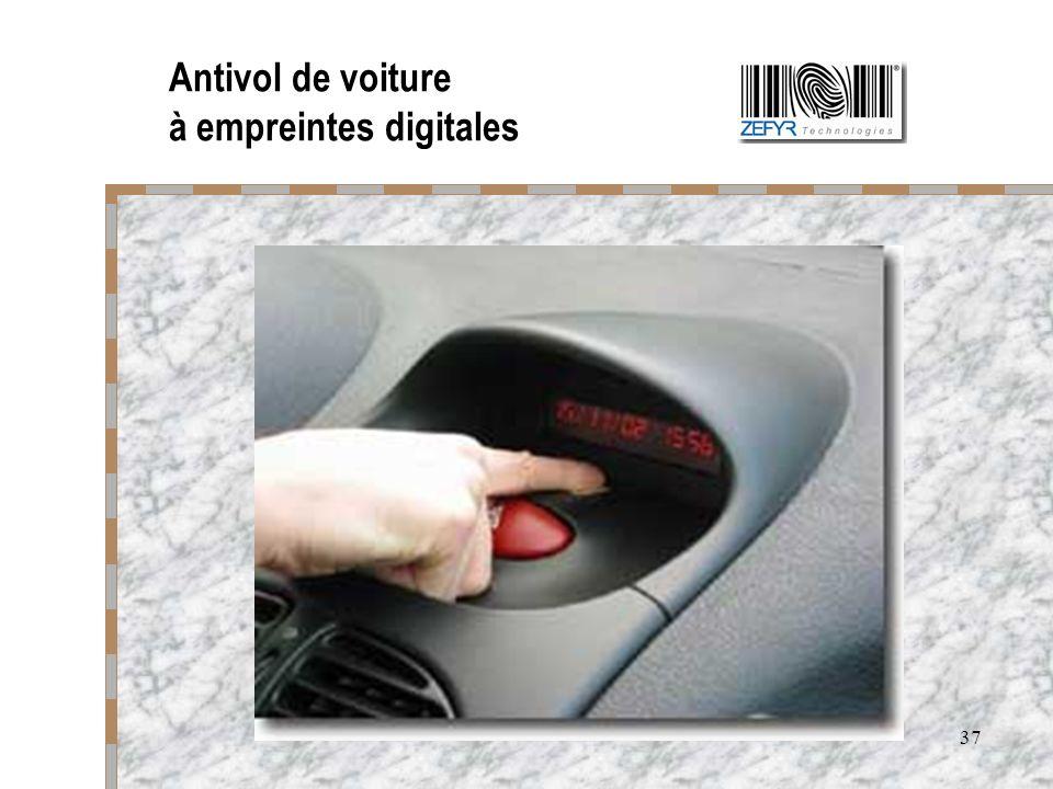 Antivol de voiture à empreintes digitales