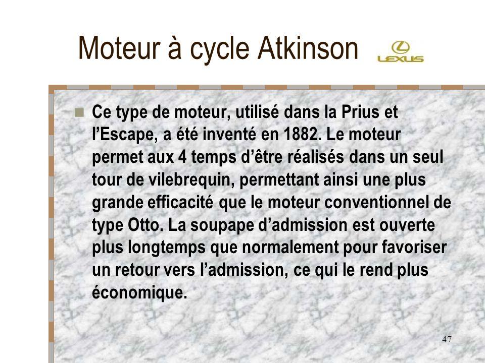 Moteur à cycle Atkinson