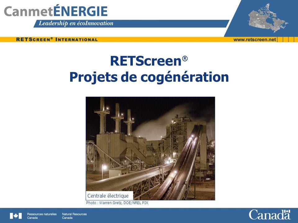 RETScreen® Projets de cogénération