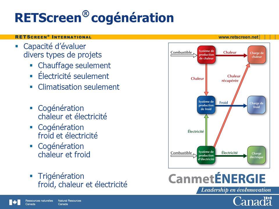 RETScreen® cogénération