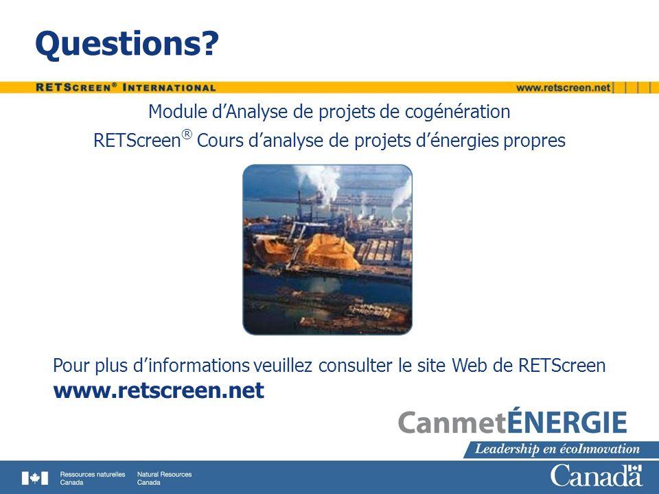 Questions www.retscreen.net