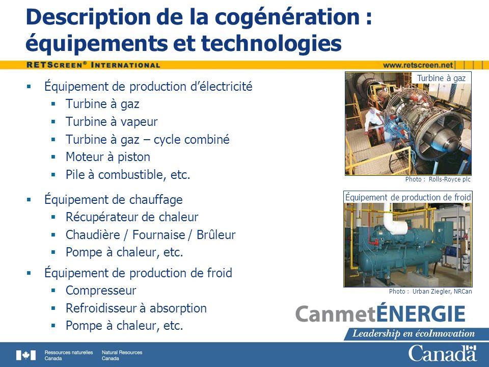 Description de la cogénération : équipements et technologies