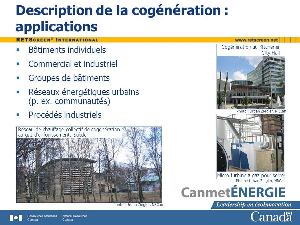 Description de la cogénération : applications