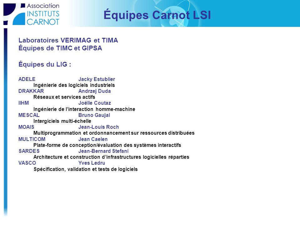 Équipes Carnot LSI Laboratoires VERIMAG et TIMA