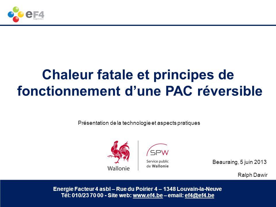 Chaleur fatale et principes de fonctionnement d'une PAC réversible