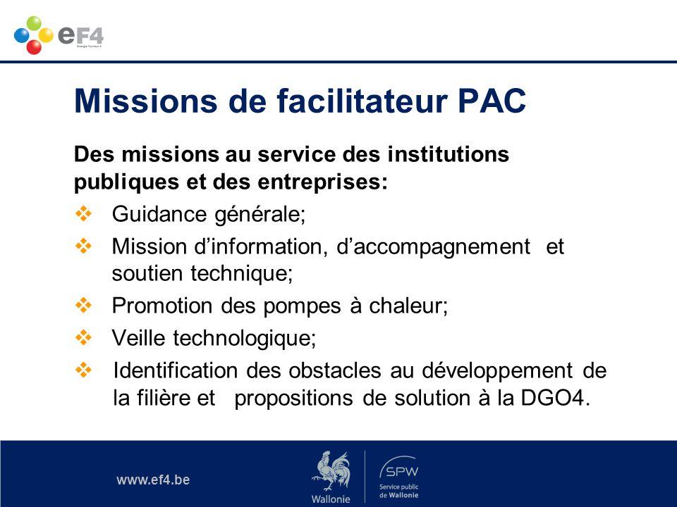 Missions de facilitateur PAC