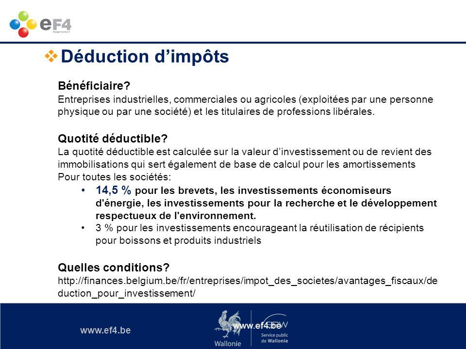 Déduction d'impôts Bénéficiaire Quotité déductible
