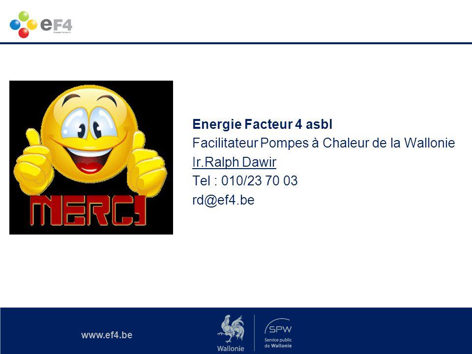 Energie Facteur 4 asbl Facilitateur Pompes à Chaleur de la Wallonie Ir