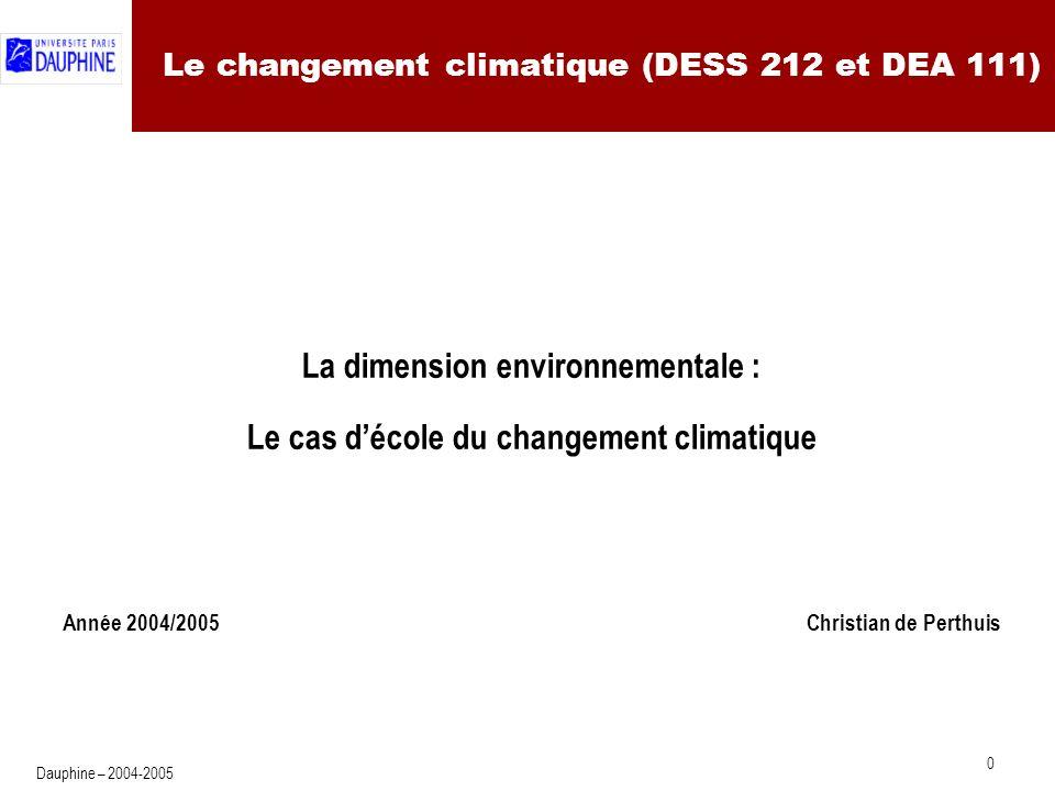 Le changement climatique : Plan
