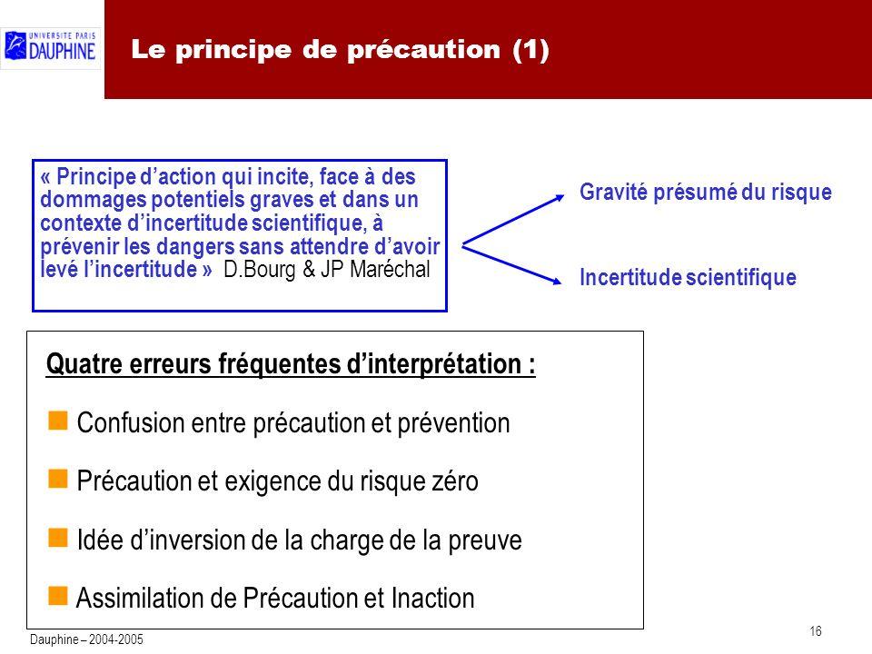 Le principe de précaution (2)