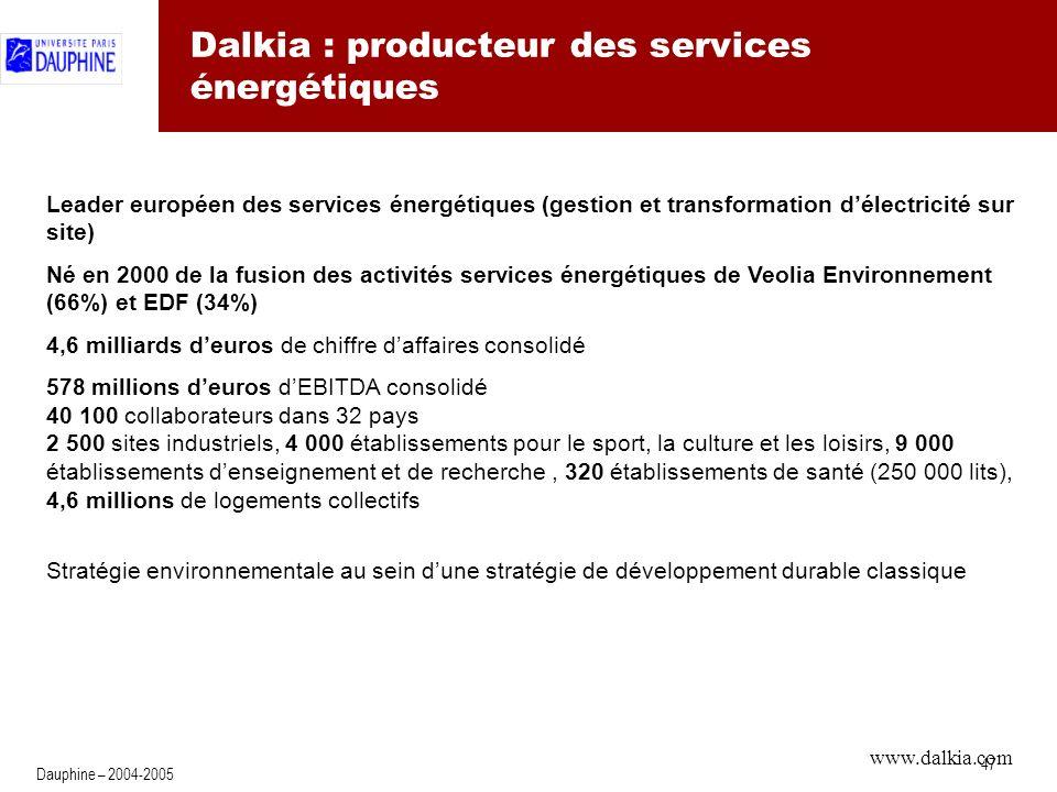 Dalkia : test sur le marché britannique
