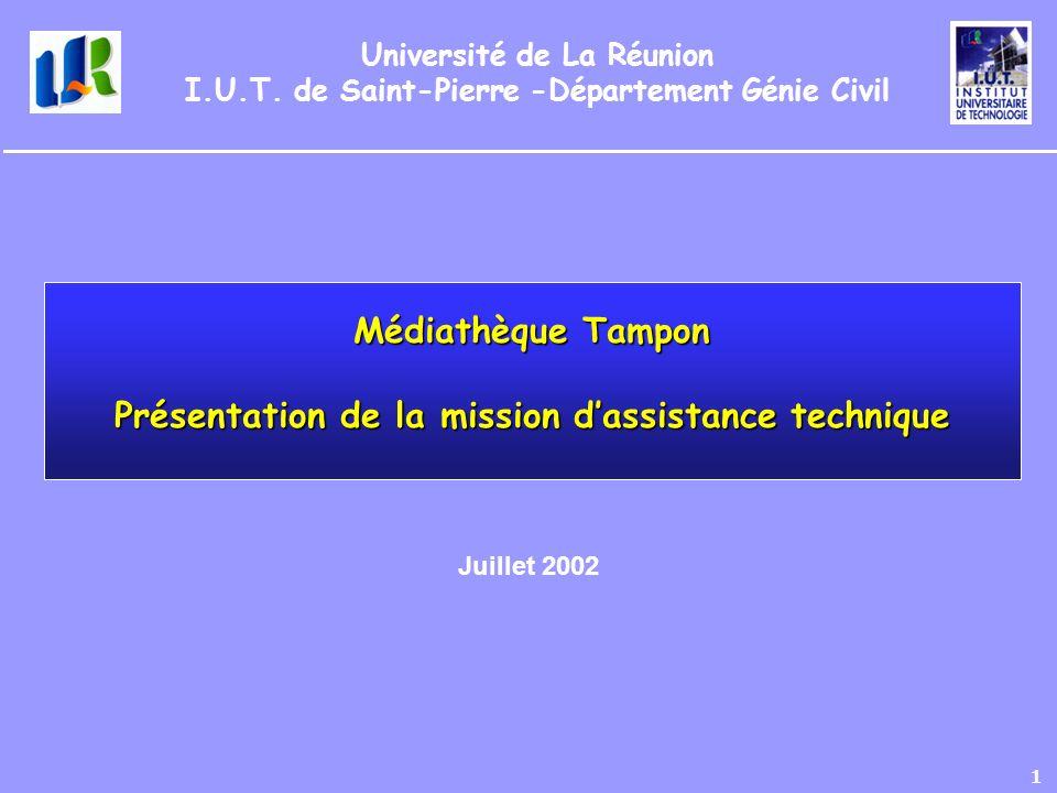 Médiathèque Tampon Présentation de la mission d'assistance technique