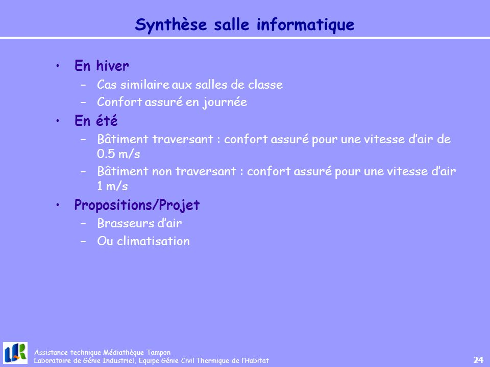 Synthèse salle informatique