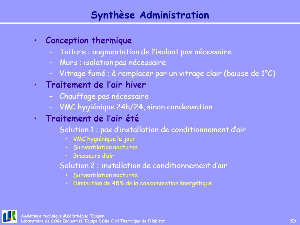 Synthèse Administration