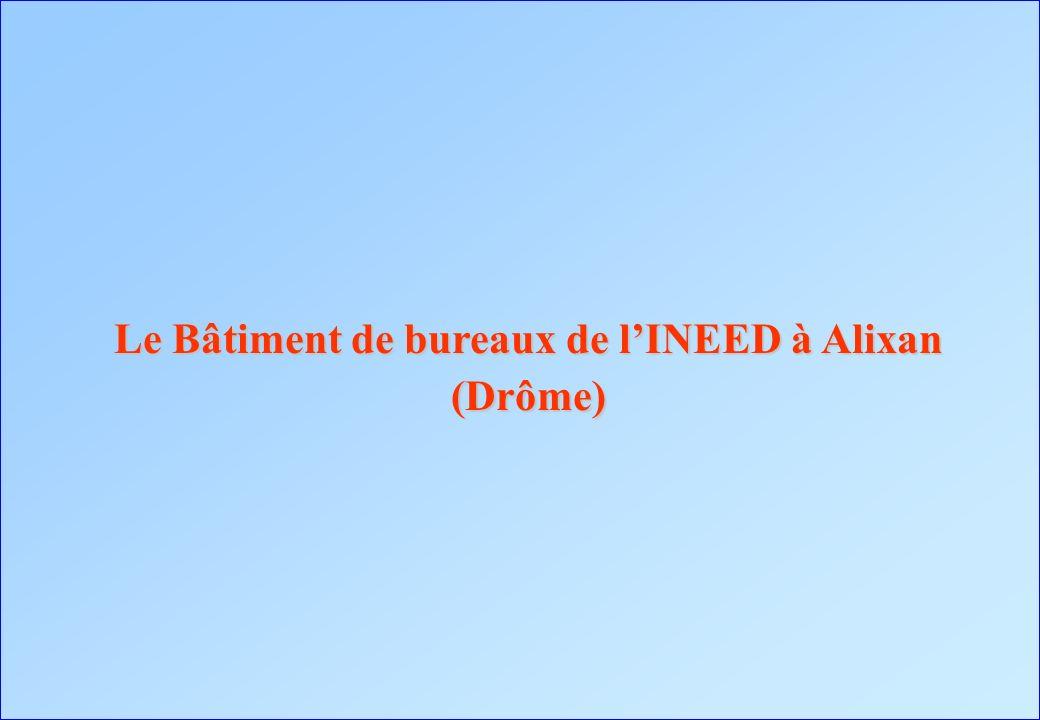 Le Bâtiment de bureaux de l'INEED à Alixan (Drôme)