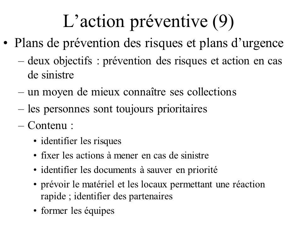L'action préventive (9)