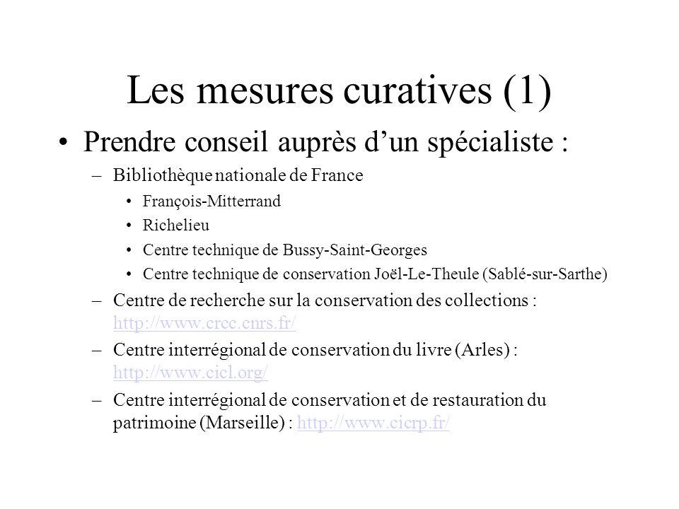 Les mesures curatives (1)