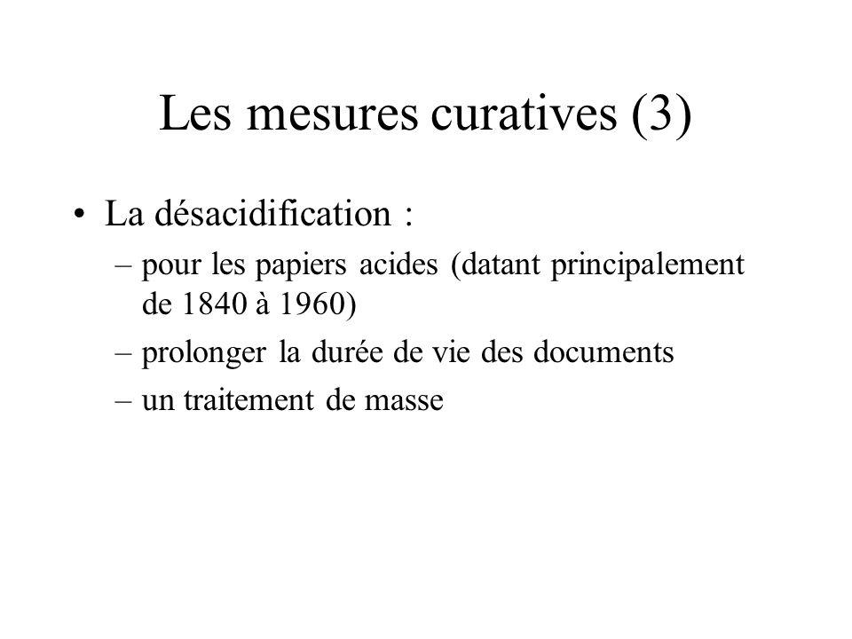 Les mesures curatives (3)