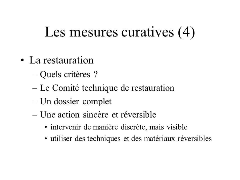 Les mesures curatives (4)
